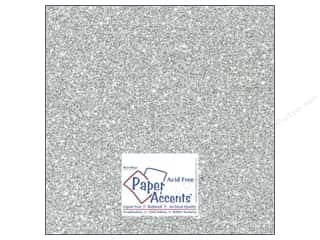 Cardstock 12 x 12 in. #5117 Glitz Silver/Platinum by Paper Accents