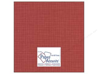 Red Paper: Cardstock 12 x 12 in. #8087 Muslin Schoolhouse Red by Paper Accents (25 sheets)