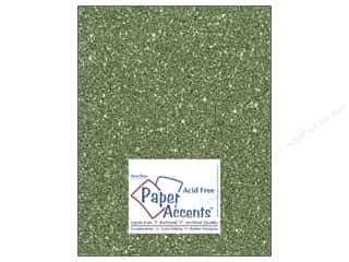 scrapbooking & paper crafts: Paper Accents Cardstock 8 1/2 x 11 in. #5112 Glitz Silver/Bayberry (25 sheets)