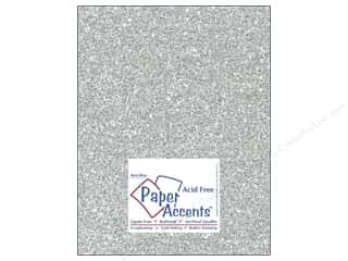 glitz cardstock: Cardstock 8 1/2 x 11 in. #5117 Glitz Silver/Platinum by Paper Accents (25 sheets)