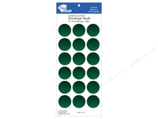 Clearance Paper Accents Envelopes: Paper Accents Envelope Seals 1 1/8 in. Green Foil 18 pc.