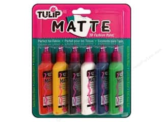 Tulip 3D Fashion Paint Set 6 pc. Glitter: Tulip 3D Fashion Paint Set 6 pc. Matte