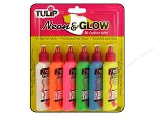craft & hobbies: Tulip 3D Fashion Paint Set 6 pc. Neon & Glow