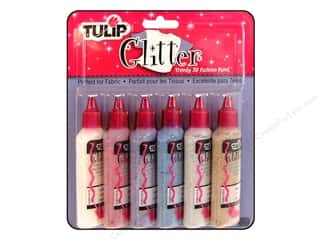 Tulip 3D Fashion Paint Set 6 pc. Glitter: Tulip 3D Fashion Paint Set 6 pc. Glitter