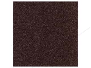 scrapbooking & paper crafts: Best Creation 12 x 12 in. Cardstock Glitter Dark Chocolate (15 sheets)