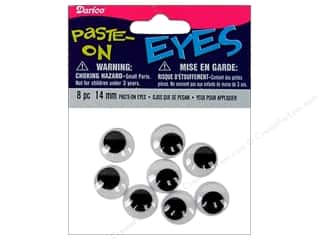 flat eyes: Googly Eyes by Darice Paste-On 9/16 in. Black 8 pc. (3 packages)