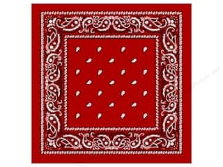 Scarf / Scarves: Darice Bandana 22 x 22 in. Red Paisley