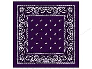 Scarf / Scarves: Darice Bandana 22 x 22 in. Purple Paisley