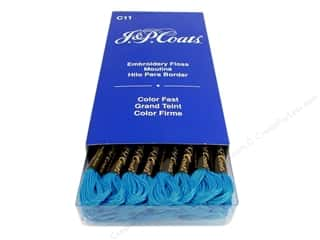 J & P Coats Six-Strand Embroidery Floss #7008 Light Imperial Blue (24 skeins)