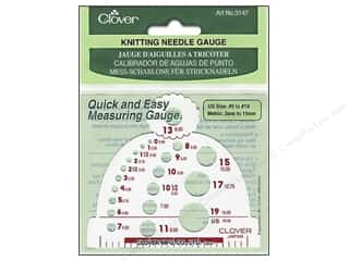 Clover Knitting needle: Clover Knitting Needle Gauge - Size 0 to 19