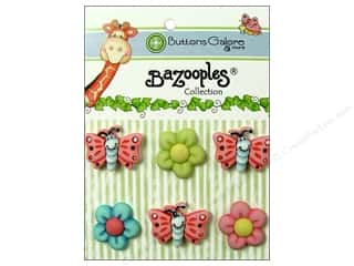 Buttons Galore Theme Buttons BaZooples Flutterbugs & Flowers