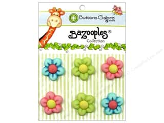 Buttons Galore Theme Buttons BaZooples Flowers Medley