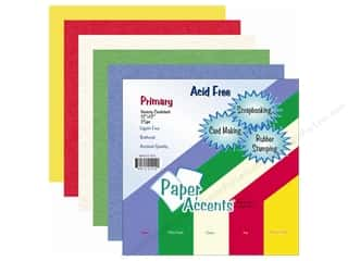 Cardstock Variety Pack 8 1/2 x 11 in. Primary 25 pc. by Paper Accents