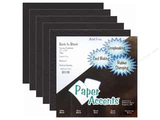 Cardstock Variety Pack 12 x 12 in. Back In Black 10 pc. by Paper Accents