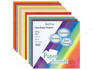Paper Accents Cardstock: Cardstock Variety Pack 12 x 12 in. Stash Builder Assorted 40 pc. by Paper Accents