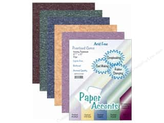 Paper Accents Cardstock: Cardstock Variety Pack 8 1/2 x 11 in. Pearlized Gem 10 pc. by Paper Accents