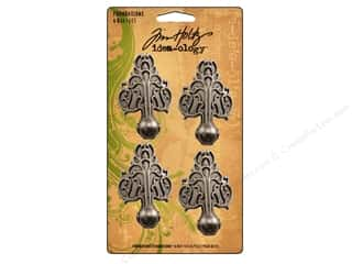Tim Holtz Metallic Mixative: Tim Holtz Idea-ology Foundations Metal Box Feet 4 pc.