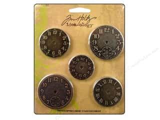 Tim Holtz Metallic Mixative: Tim Holtz Idea-ology Timepieces Clock Faces 5 pc.