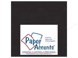 Paper Accents Chipboard 6 x 6 in. 50 pt. Extra Heavy Black (25 sheets)