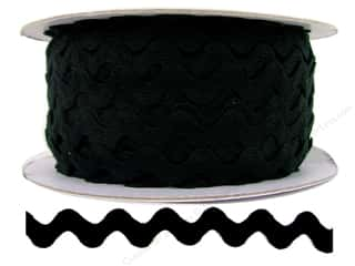Trim: Cheep Trims Ric Rac 1/2 in. Black (24 yards)