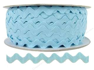 "Cheep Trims Ric Rac 1/2"": Ric Rac by Cheep Trims  1/2 in. Light Blue (24 yards)"