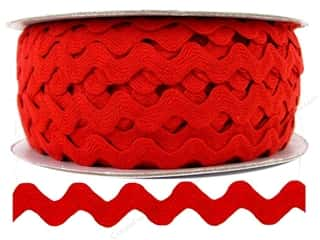 "Ric Rac by Cheep Trims  1/2"" Red"
