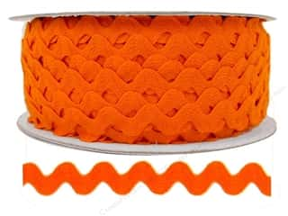 Cheep Trims Ric Rac jumbo: Ric Rac by Cheep Trims  1/2 in. Orange (24 yards)
