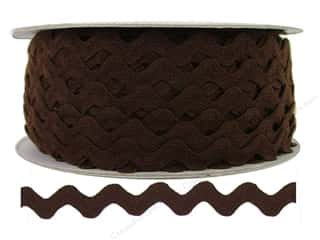 "Cheep Trims Ric Rac 1/2"": Ric Rac by Cheep Trims  1/2 in. Brown (24 yards)"