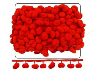 Cheep Trims: Pom Fringe by Cheep Trims 1 1/2 in. Red (18 yards)
