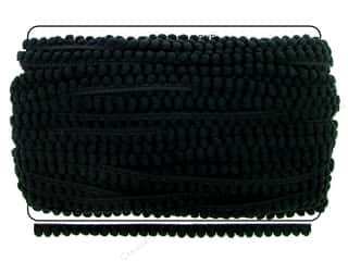 Cheep Trims Pom Pom Fringe 3/8 in. Black (36 yards)