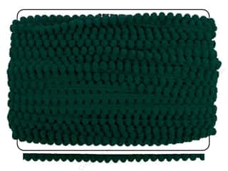 Cheep Trims Pom Pom Fringe 3/8 in. Emerald (36 yards)