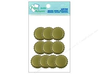 scrapbooking & paper crafts: Paper Accents Bottle Caps 10 pc. Gold