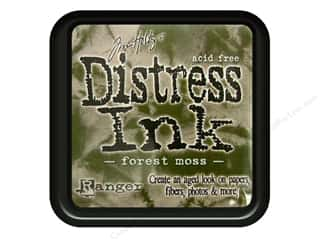 stamps: Ranger Tim Holtz Distress Ink Pad Forest Moss