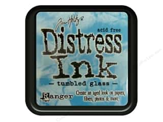 stamps: Ranger Tim Holtz Distress Ink Pad Tumbled Glass