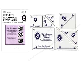 ruler: Marti Michell Perfect Patchwork Templates Set B - 4 in. Square