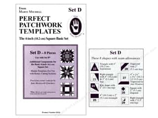 "Marti Michell Template Set Perfect Patchwork D 4"" Square Bonus"