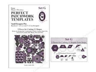 Marti Michell Template Set Perfect Patchwork G Small Hexagon +