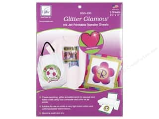 Clearance Dylon Machine Fabric Dye: June Tailor Glitter Glamour Iron-On Inkjet Transfer Sheets 2 pc.
