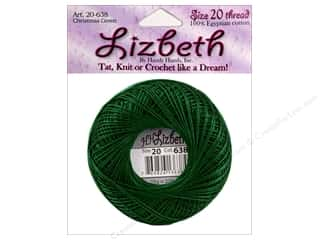 yarn & needlework: Lizbeth Thread Size 20  #152 Christmas Green