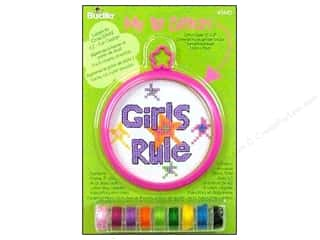 Bucilla Counted Cross Stitch Kit 3 in. Mini Girls Rule
