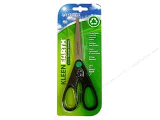 scrapbooking & paper crafts: Westcott KleenEarth 7 in. Straight Stainless Steel Scissors
