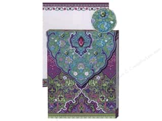 die cuts: Punch Studio Pocket Note Pad Glitter Purple & Turquoise