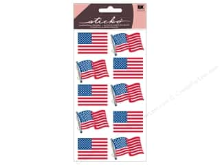 EK Sticko Stickers Metallic Waving Flags