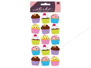 stickers: EK Sticko Stickers Vellum Bright Cupcakes