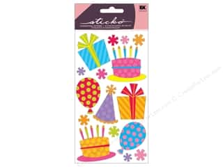 stickers: EK Sticko Stickers Glitter Fun Party And Balloons