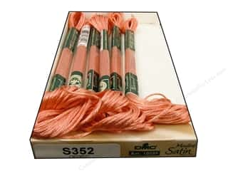 yarn & needlework: DMC Satin Embroidery Floss #S352 Delicate Salmon (6 skeins)