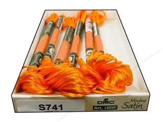 yarn & needlework: DMC Satin Embroidery Floss #S741 Orange Zest (6 skeins)
