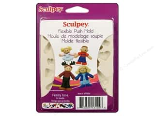 Sculpey Flexible Push Molds : Sculpey Flexible Push Mold Family Time
