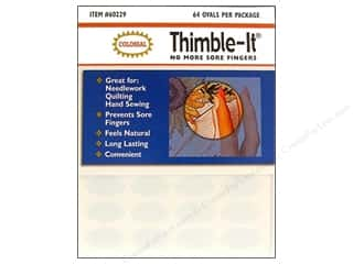 fingering yarn: Colonial Thimble-It Finger Pads Adhesive thimble