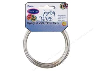 beading & jewelry making supplies: Darice Aluminum Jewelry Wire 12 Gauge Silver 3 yd.